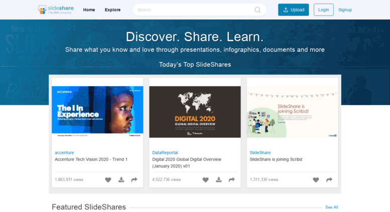 Access slideshare com  Share and Discover Knowledge on
