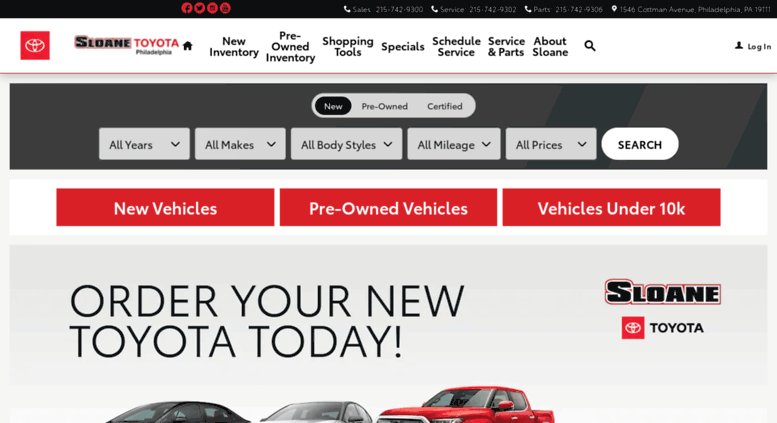 Sloane Toyota Of Philadelphia >> Access Sloanetoyotaphiladelphia Com Sloane Toyota Of Philadelphia