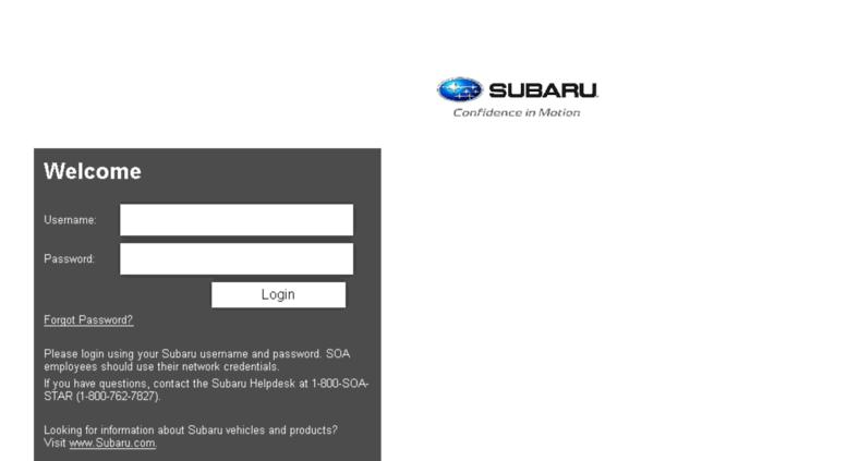 subarunet.com Access sltg.subarunet.com. Subarunet - Login