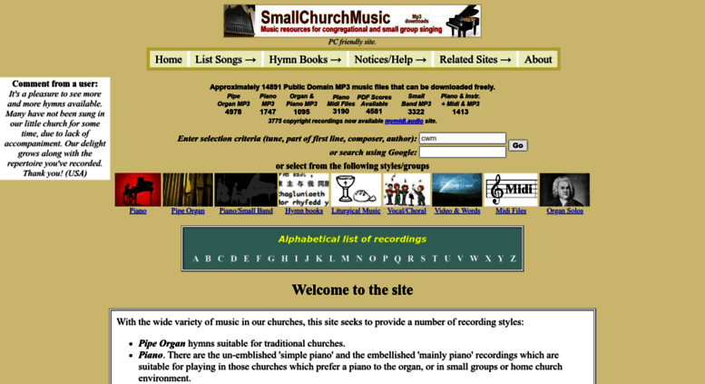 Free Midi Organ Music