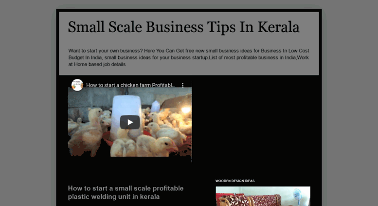 Small Scale Business Ideas