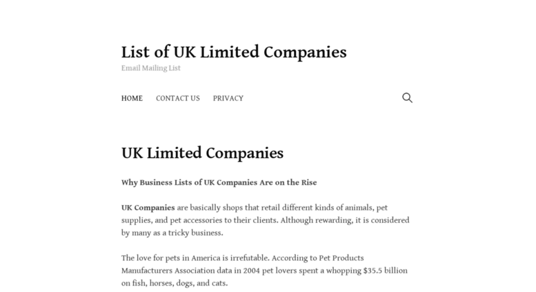 Access smartik ws  List of UK Limited Companies – Email