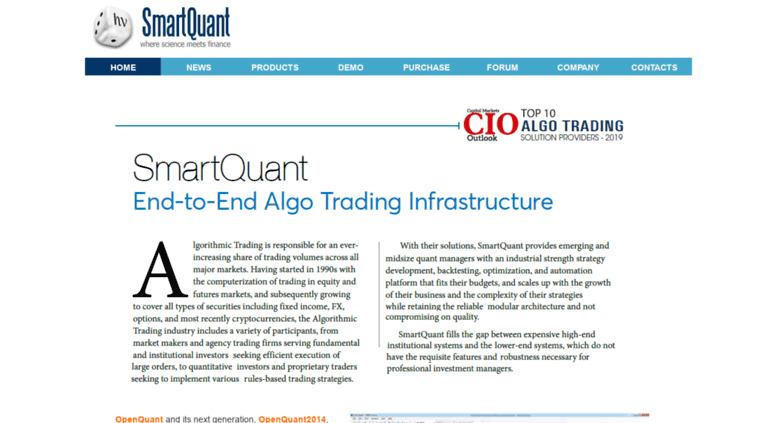 Access smartquant com  Algorithmic Trading Software for Quantitative