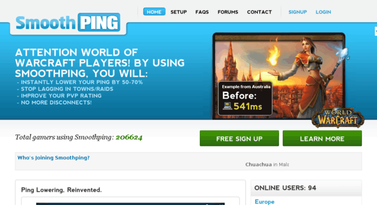 Access smoothping com  Lower your Ping with Smoothping