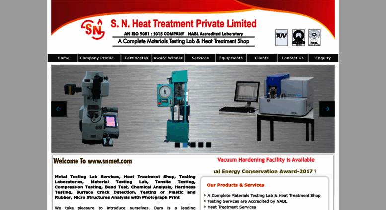 Access snmet com  Materials Testing Labs, Heat Treatment