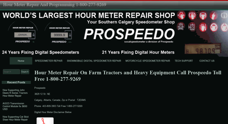 Access socalspeedometer com  Hour Meter Repair on Farm