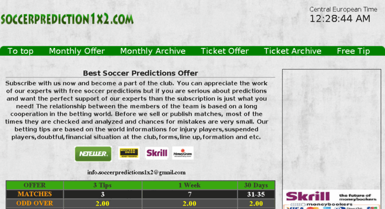 Access soccer-predictions-1x2 sportal tips  Account Suspended
