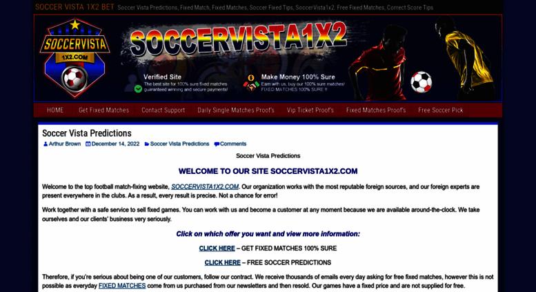 Access soccervista1x2 com  Soccervista1x2 – Free fixed match