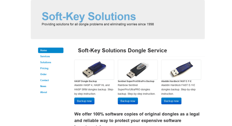 Access software-key org  Soft Key Solutions - Main page