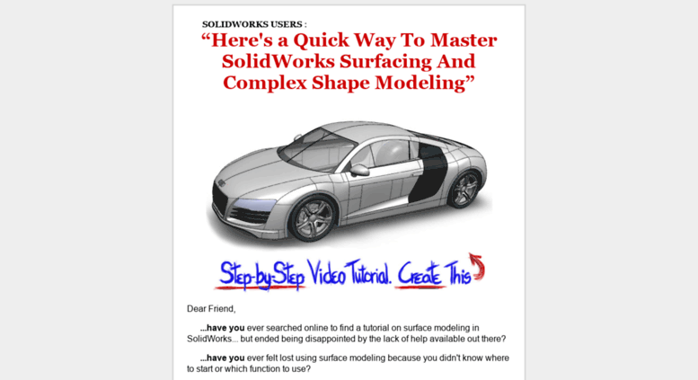 Step-by Video Tutorial On Surface Modeling SolidWorks