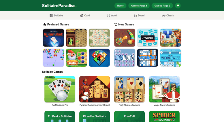 Free card games solitaire paradise