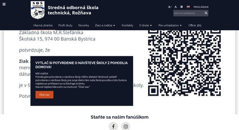 Access sostrv.edupage.org. Stredná odborná škola technická 56fae432149