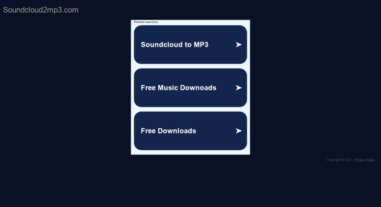 DOWNLOAD MUSIC FROM SOUNDCLOUD - Access soundcloud2mp3 com