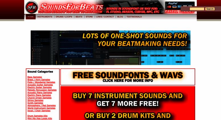 Access soundsforbeats com  Sounds For Beats - Hip Hop