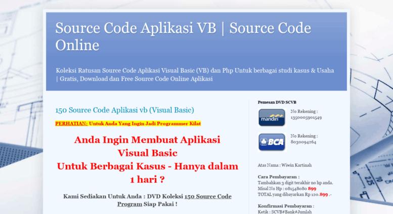 Access source-code-vb blogspot com  Source Code Aplikasi VB | Source