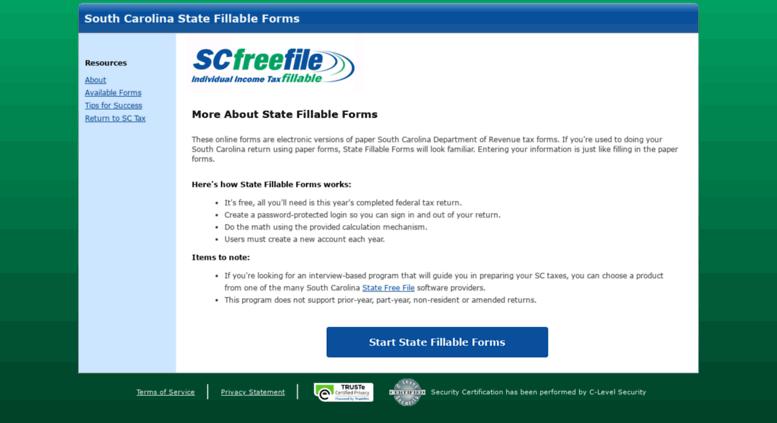 Access southcarolina statefillableforms com  Welcome to Free