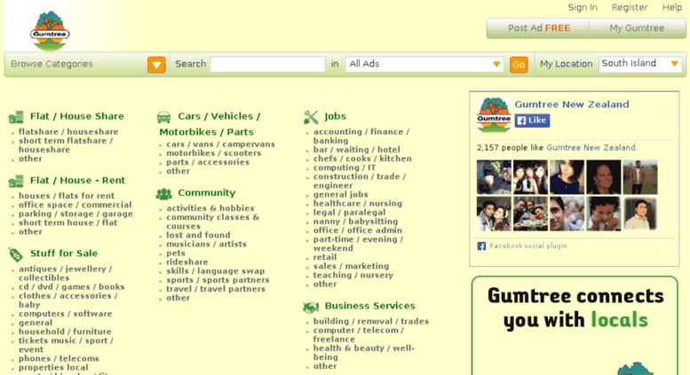 Access southisland gumtree co nz  Gumtree South Island: Free