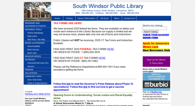 Access southwindsorlibrary org  South Windsor Public Library