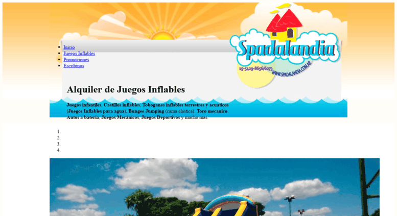 Access Spadalandia Com Ar Juegos Inflables Spadalandia Alquiler