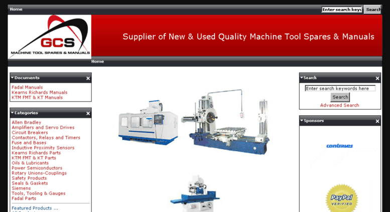 Access spares gcsupply co uk  Machine Tool Spares & Manuals