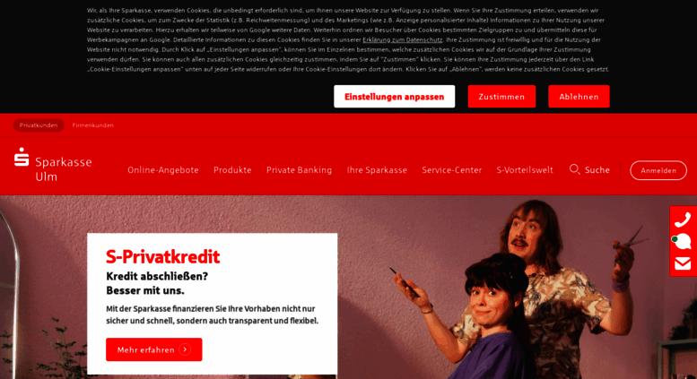 Access Sparkasse Ulmde Internet Filiale Sparkasse Ulm
