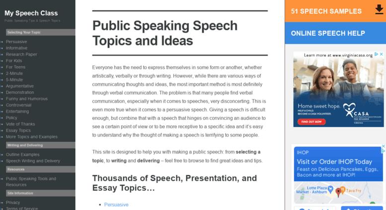 unique demonstration speech ideas