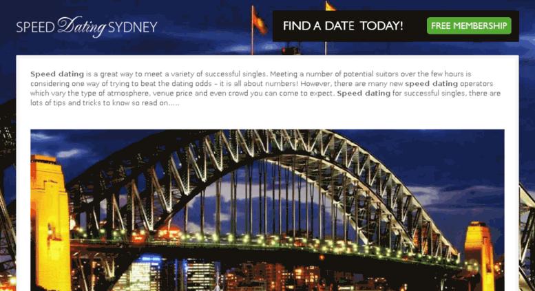 Speed Dating i Sydney ny dejtingsajt utan kredit kort