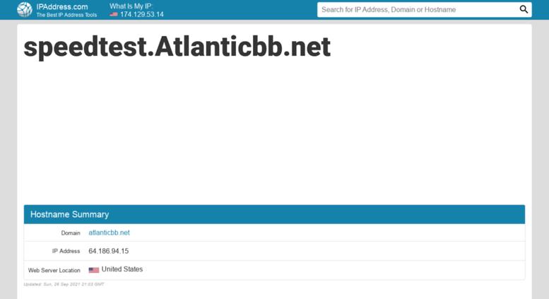 Atlantic bb speedtest