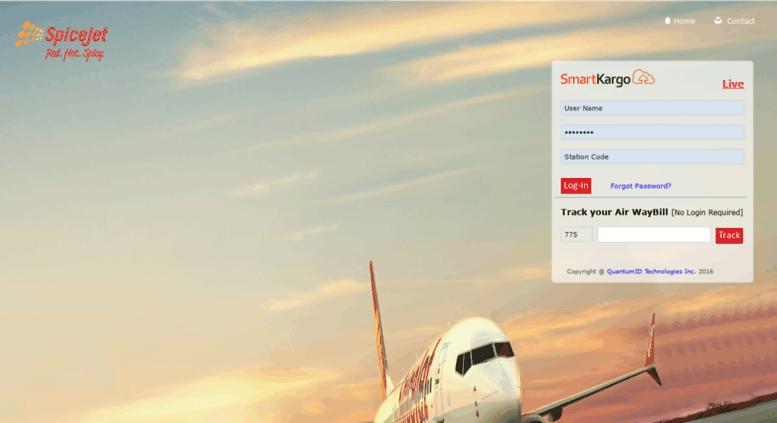 Access spicejet smartkargo com  SmartKargo-Index