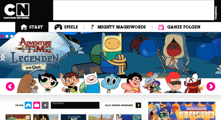 Access Spielaffe Cartoonnetwork De