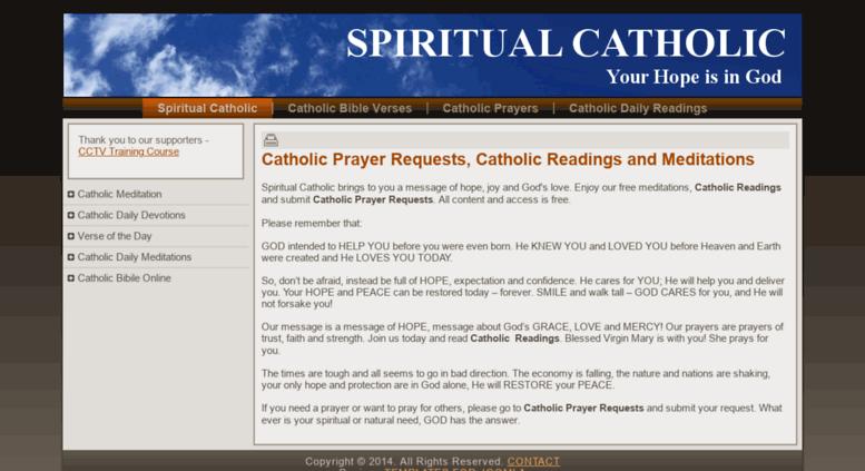 Access spiritualcatholic com  CATHOLIC READINGS - CATHOLIC