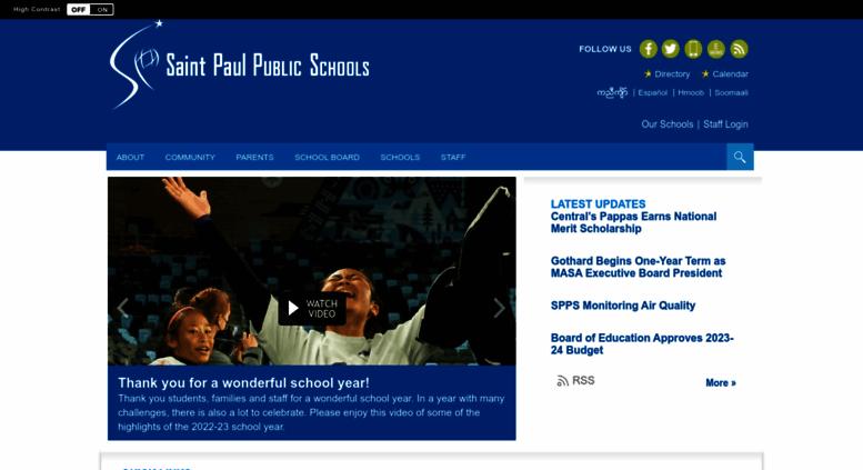 Spps Calendar.Access Spps Org Saint Paul Public Schools Homepage