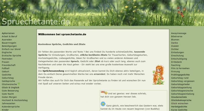 Access Spruechetante De Kostenlose Spruche Schone Gedichte