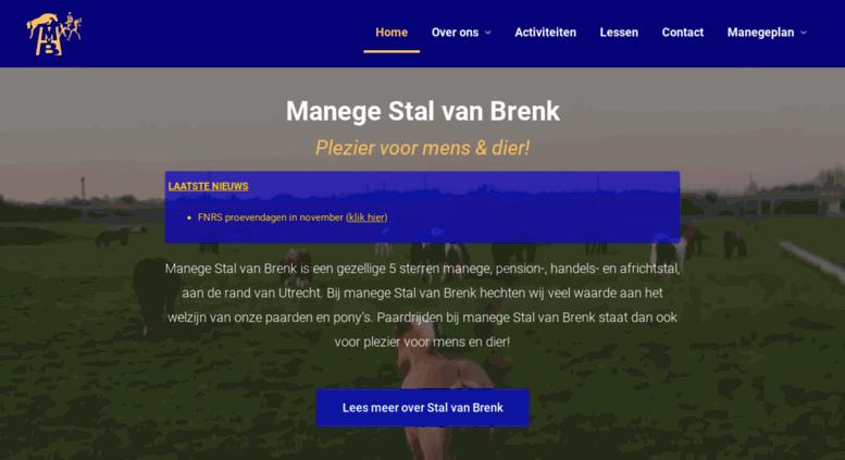 access stalvanbrenk.nl. stal van brenk – manege & pensionstal aan de