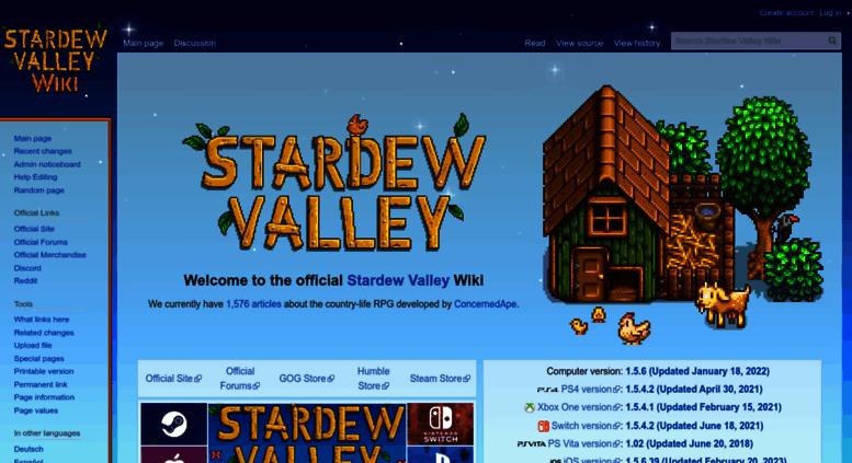 Access stardewvalleywiki com  Official Stardew Valley Wiki