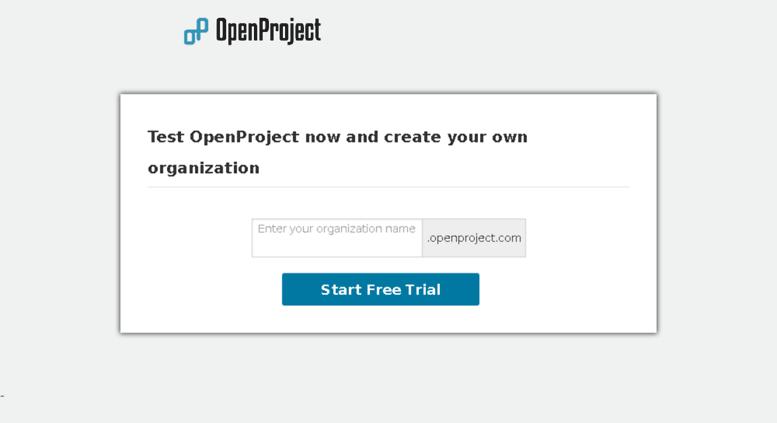 Access start openproject com  Customer Self Care - Start now