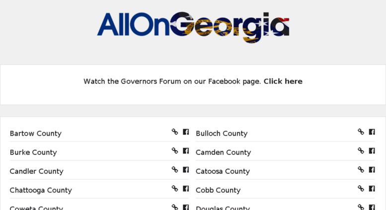Access state allongeorgia com  All On Georgia | Statewide