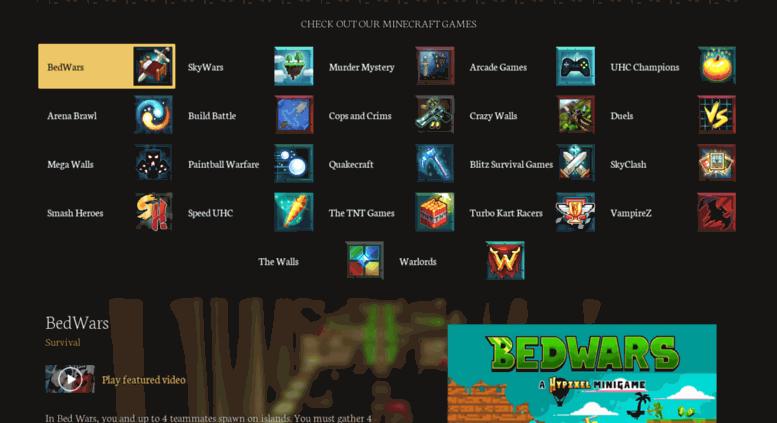 Hypixels Mini Games | Asdela