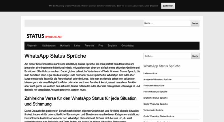 Access Status Spruechenet Whatsapp Status Sprüche Kurz