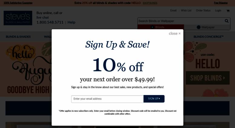 stevesblindsandwallpaper.com screenshot
