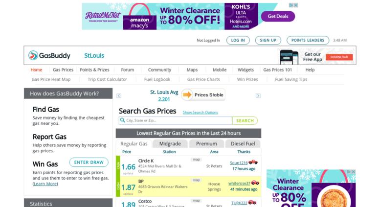 Gas Prices St Louis >> Access Stlouisgasprices Com St Louis Gas Prices Find