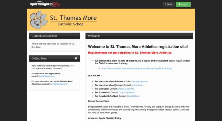 access stmbengals sportssignup com st thomas more athletics