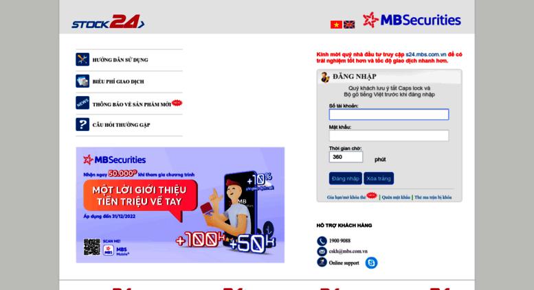 Kết quả hình ảnh cho giao dịch online mbs