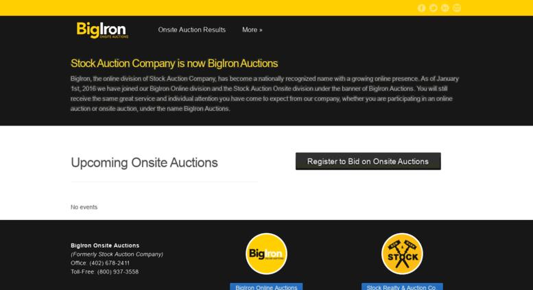 Access stockauctionco com  BigIron Onsite Auctions