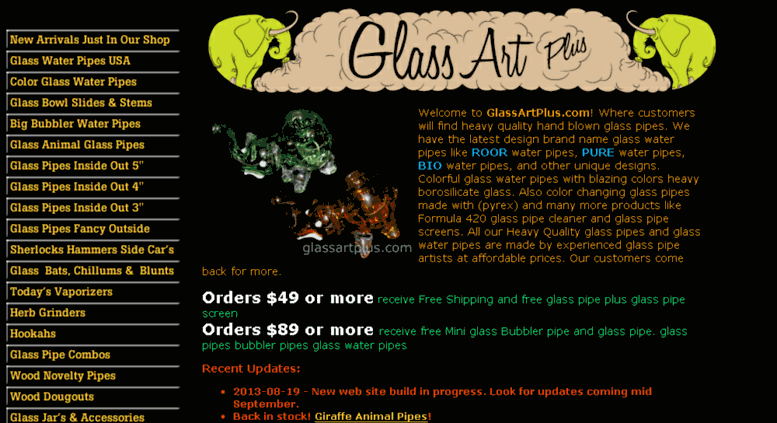 Access store glassartplus com  Glass Pipes | Glass Water Pipes