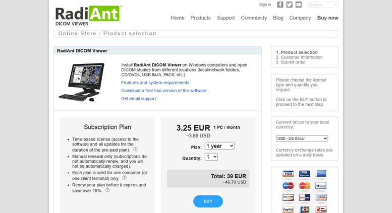 Access store radiantviewer com  DICOM Viewer - RadiAnt | Store