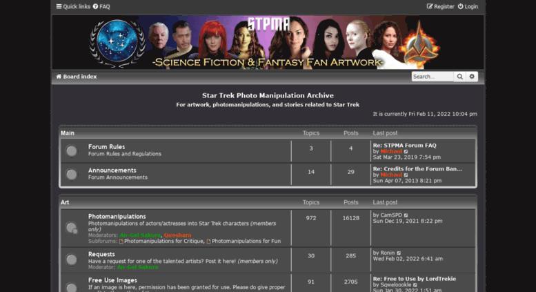Access stpma com  Star Trek Photo Manipulation Archive - Index page
