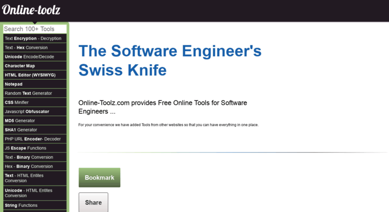Access string online-toolz com  Online Tools for Software Geeks