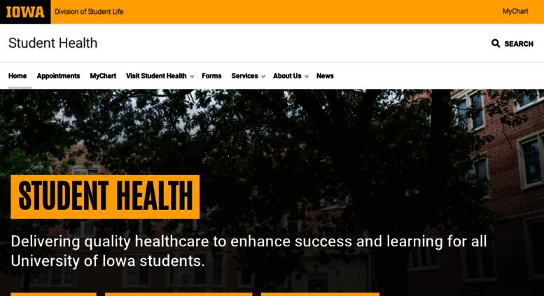 Access Studenthealth Uiowa Edu Student Health Wellness The