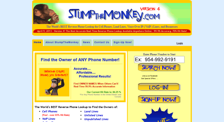 Access stumpthemonkey com  StumpTheMonkey | World's Best